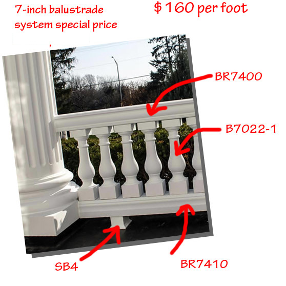 Architectural Augmentations Polyurethane Balustrade Part Numbers and Prices