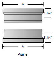 Prairie cap and base for square, non-tapered craftsman columns available from CheapColumn.com