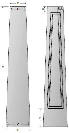 Standard cap and base for non-tapered craftsman columns