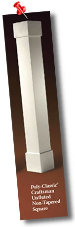 Craftsman Column, Non-Tapered, Plain Panel, Standard Cap and Base available from CheapColumn.com Price $229