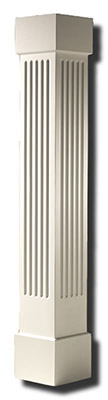 Square Non-tapered Column with Fluted Panels