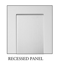 Recessed panel for square, non-tapered craftsman column available from CheapColumn.com
