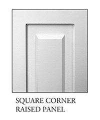 Square corner raised panel for square, non-tapered craftsman column available from CheapColumn.com