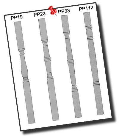 Four Porch Post Patterns: PP19, PP23, PP33 and PP112