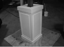 Installation of Poly-Classic Craftsman column