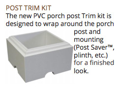 Trim kit to be used with pine porch post.
